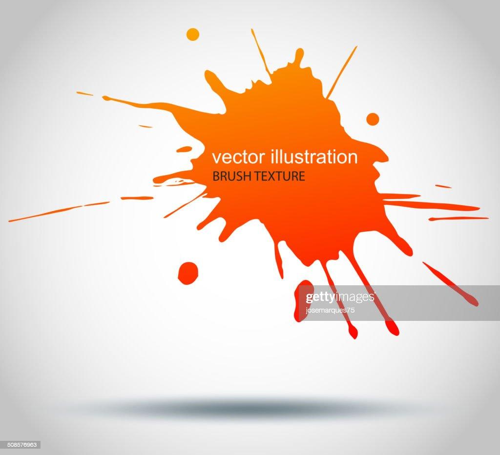 Brush Paint Stains, Vector Splatter : Vektorgrafik