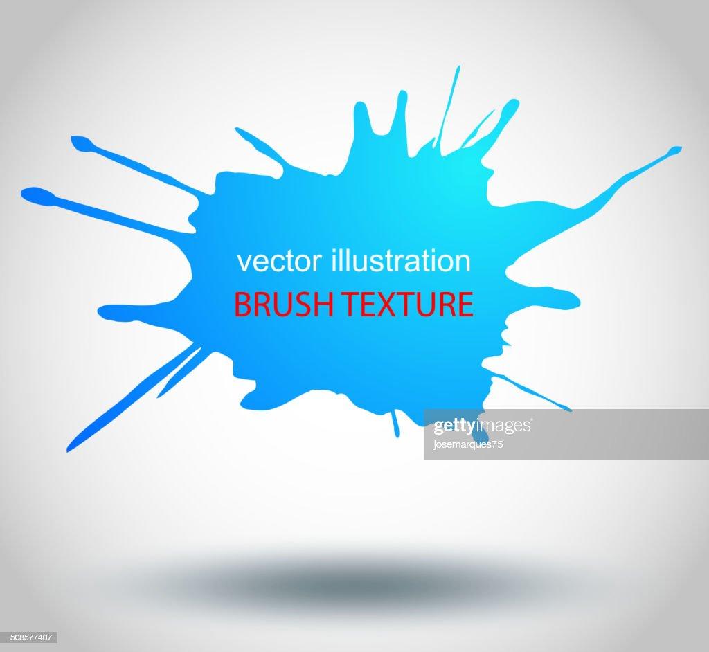 Pinsel Farbe Flecken, Vektor-Splatter : Vektorgrafik