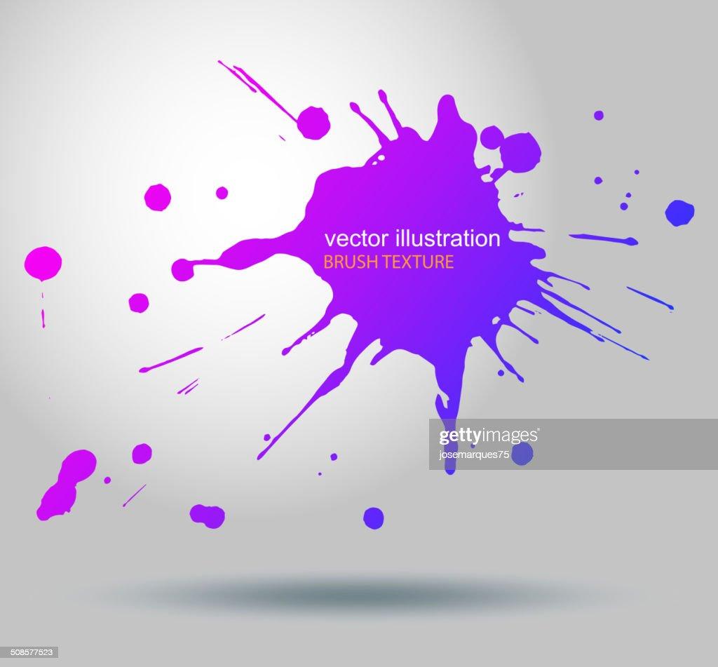 Macchie di vernice, pennello vettoriale Splatter : Arte vettoriale
