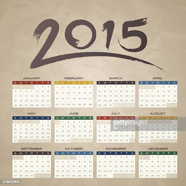 Brush Stroke 2015 Kalender