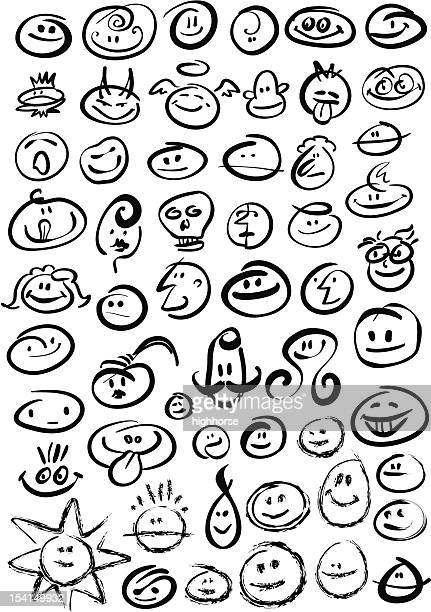 Brush Stroke Smileys