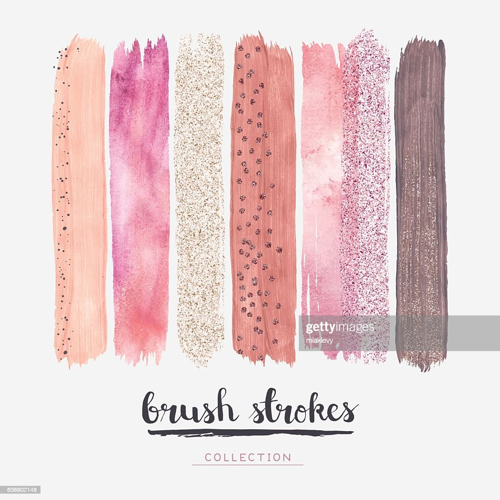 Brush strokes glitter collection