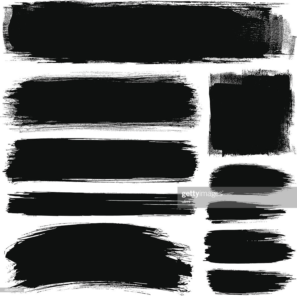 Brush strokes : stock illustration