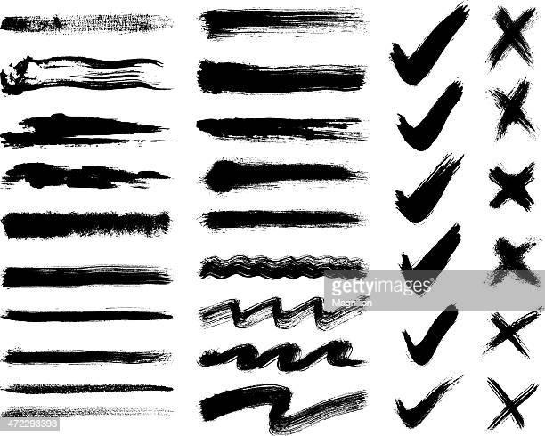 brush strokes - cross shape stock illustrations, clip art, cartoons, & icons