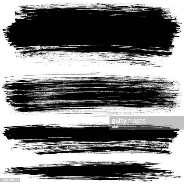 brush strokes - bürsten stock-grafiken, -clipart, -cartoons und -symbole