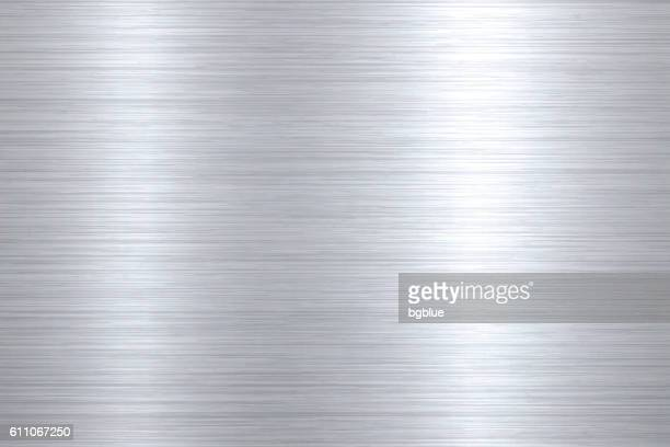 brushed metal background - silver metal stock illustrations