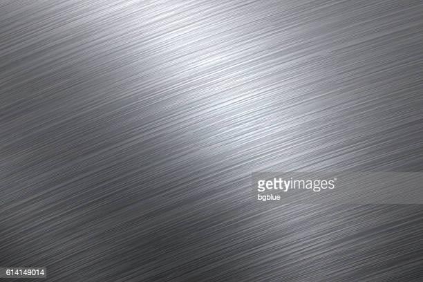 brushed metal background - platinum stock illustrations