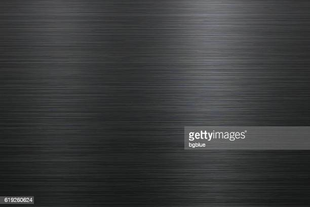 brushed metal background - black colour stock illustrations