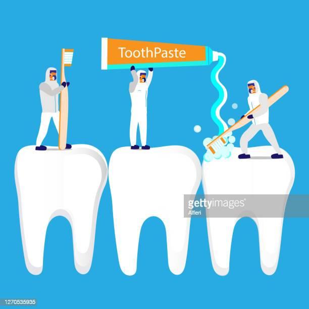 brushing teeth - molar stock illustrations