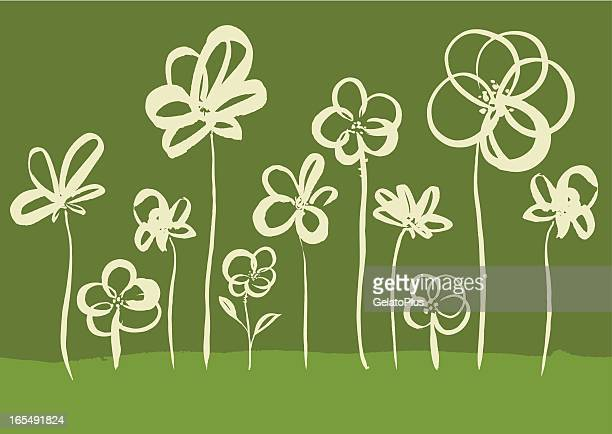 Pinselstrich Blume-Kollektion