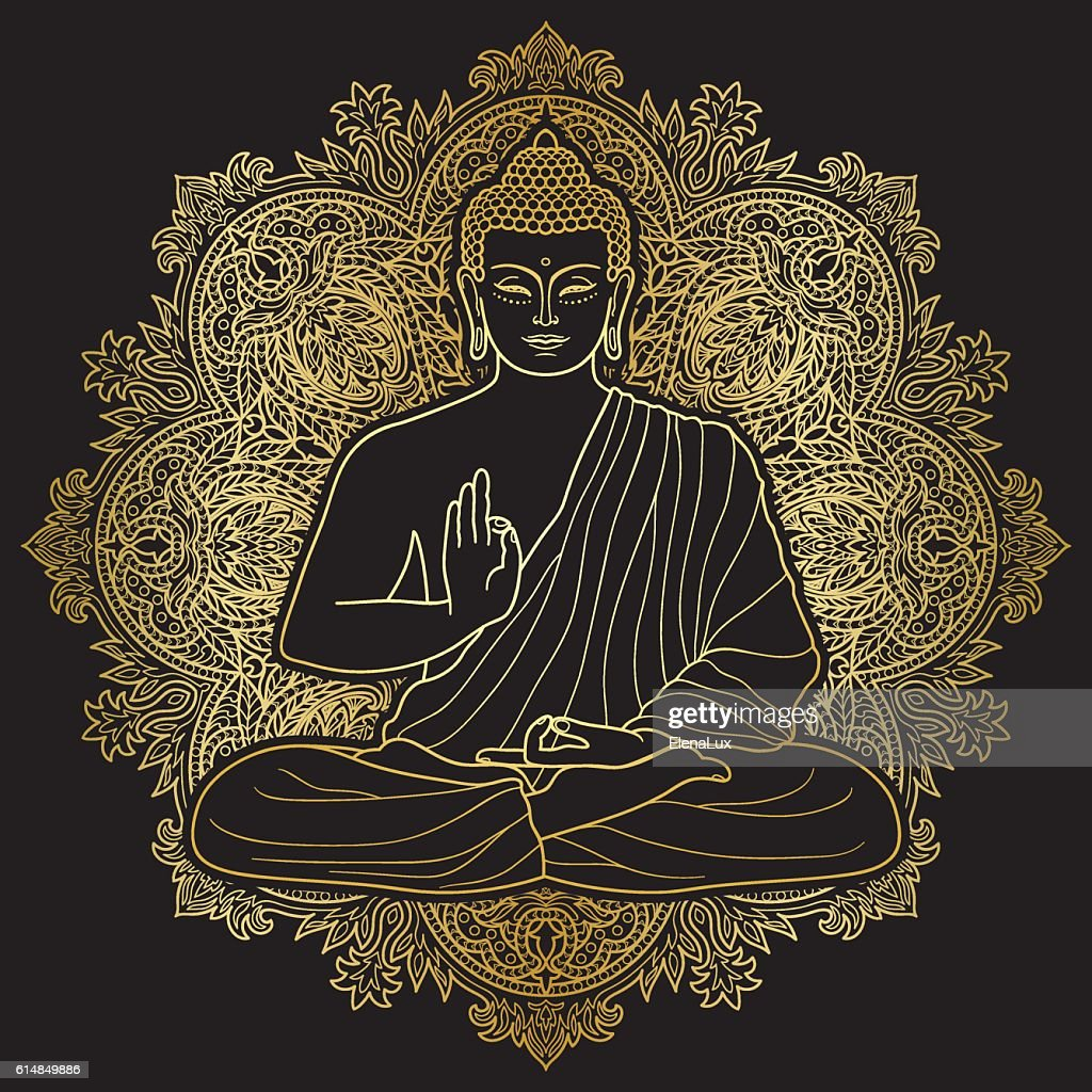 Bubbha Sitting in Lotus position