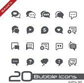 Bubble Icons // Basics