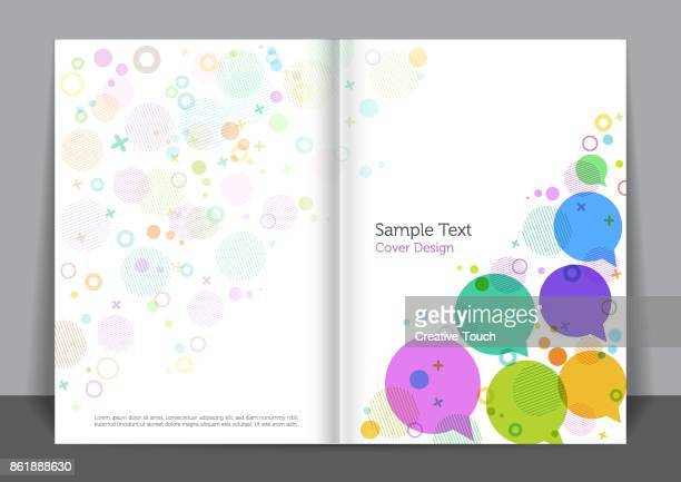 bubbles cover design - covering stock illustrations