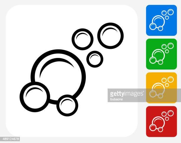 illustrations, cliparts, dessins animés et icônes de icône plate de bulles de conception graphique - station de lavage auto