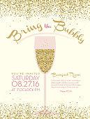 Bubbly champagne social event invitation design template