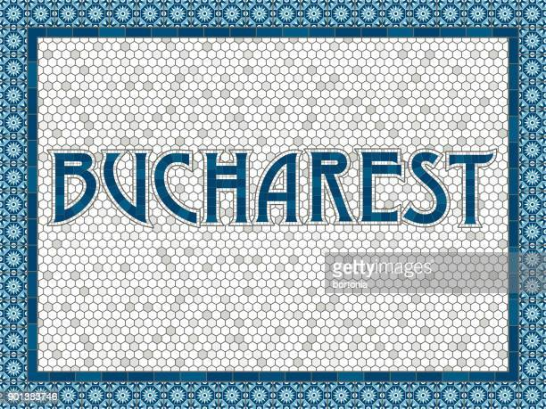 Bucharest Old Fashioned Mosaic Tile Typography