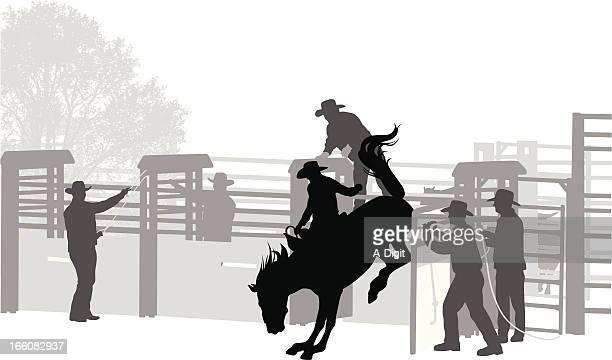 ilustrações de stock, clip art, desenhos animados e ícones de buckaroo - rodeio