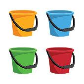 bucket collection vector design