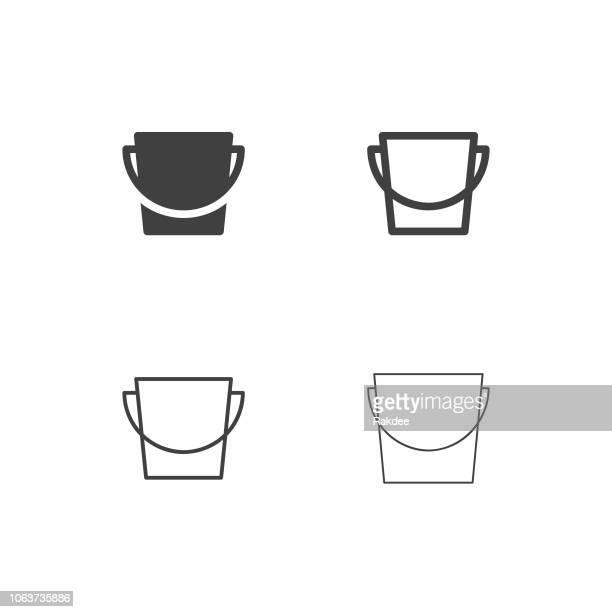 バケツ アイコン - マルチ シリーズ - バケツ点のイラスト素材/クリップアート素材/マンガ素材/アイコン素材