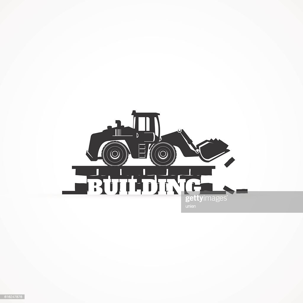 Bucket loader. : Vector Art