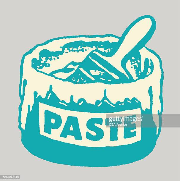 Bucket of Paste with Brush