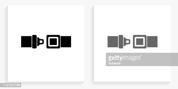 Buckle Up Black and White Square Icon