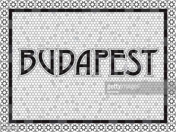 Budapest Old Fashioned Mosaic Tile Typography