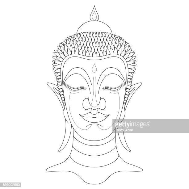 Buddha Head n° 7 (Line Art)