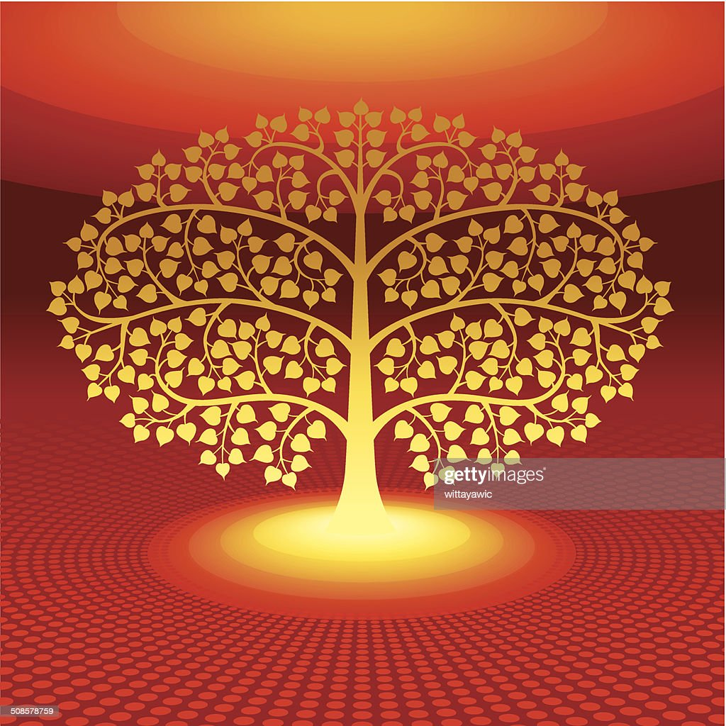 buddha tree symbol, vector illustration : Vectorkunst
