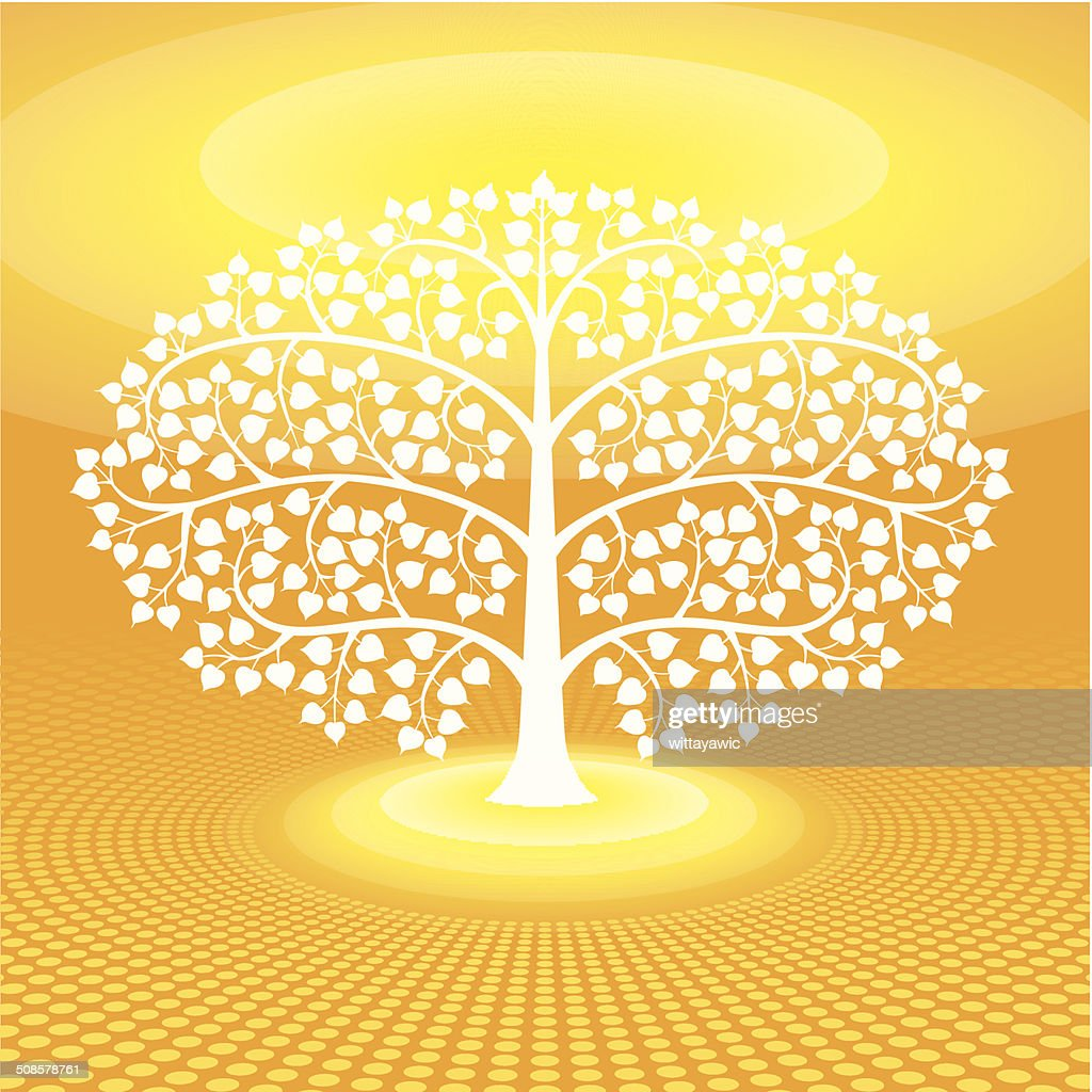 buddha tree symbol, vector illustration : Vector Art