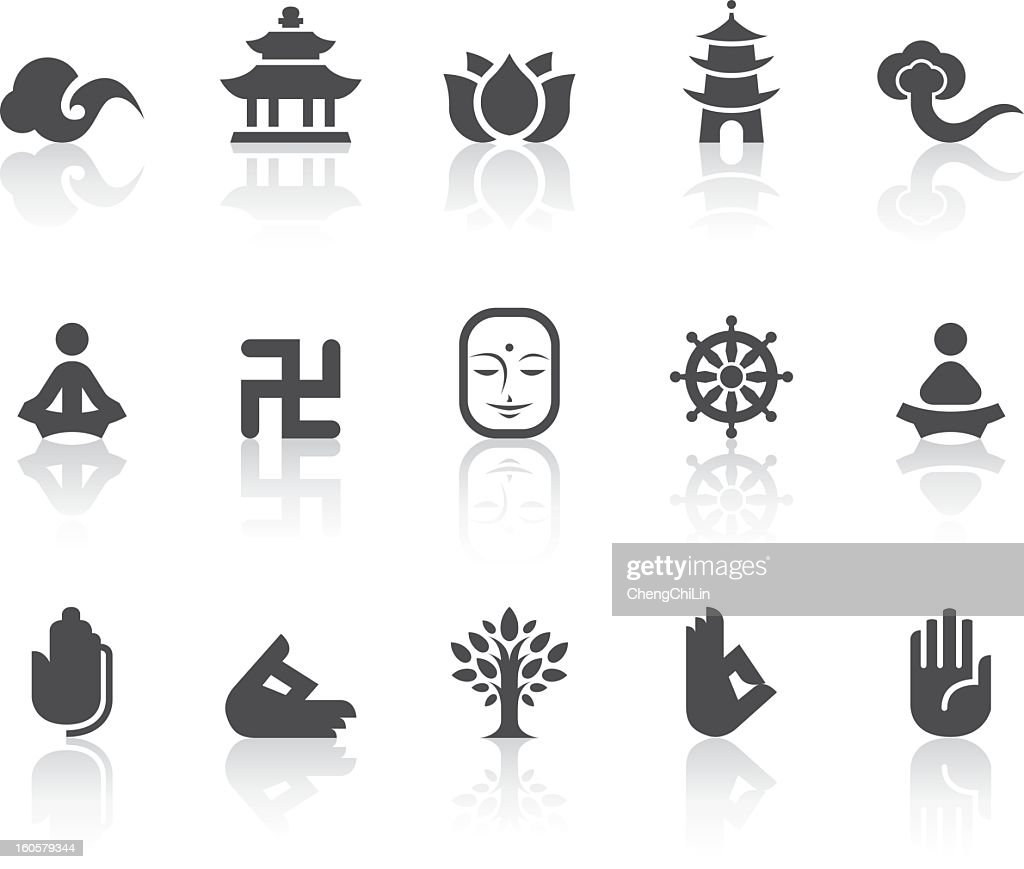 Buddhism Icons | Simple Black Series