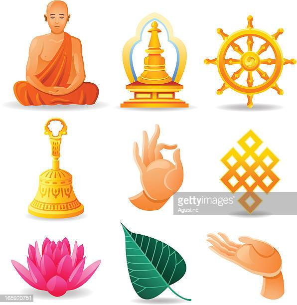 ilustraciones, imágenes clip art, dibujos animados e iconos de stock de budismo juego - buda