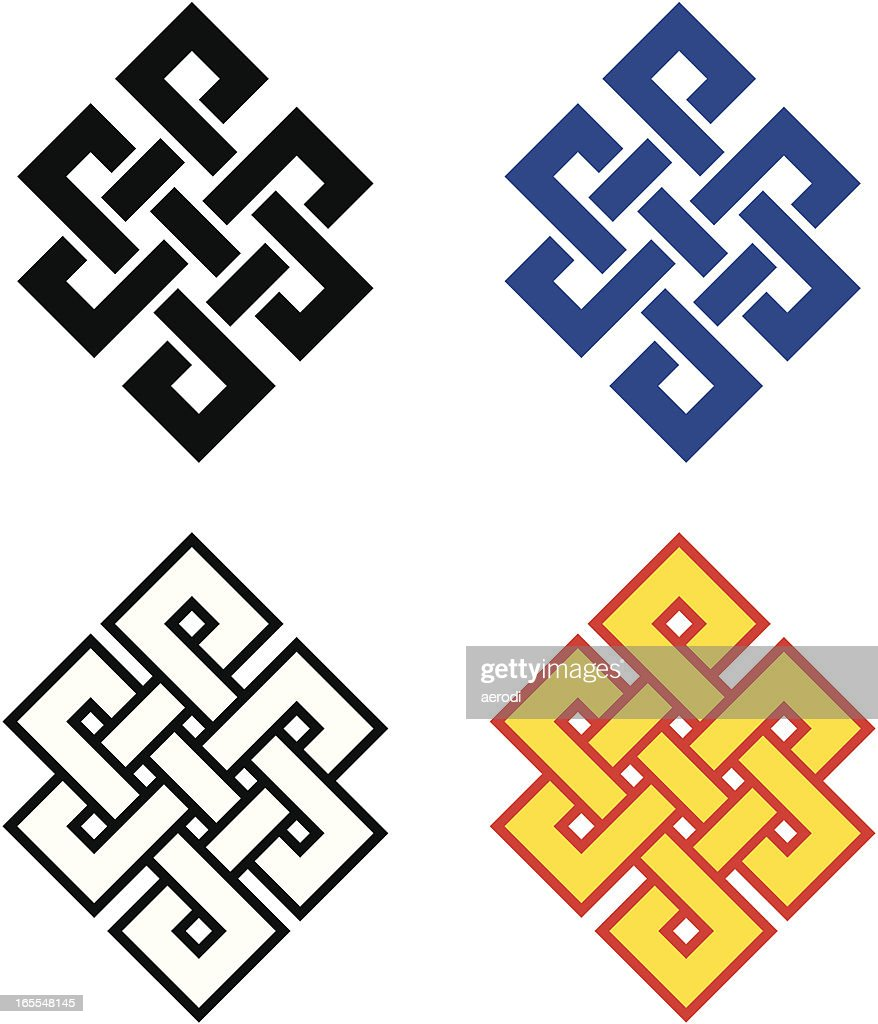 Buddhist Endless Knot Vector Art Getty Images