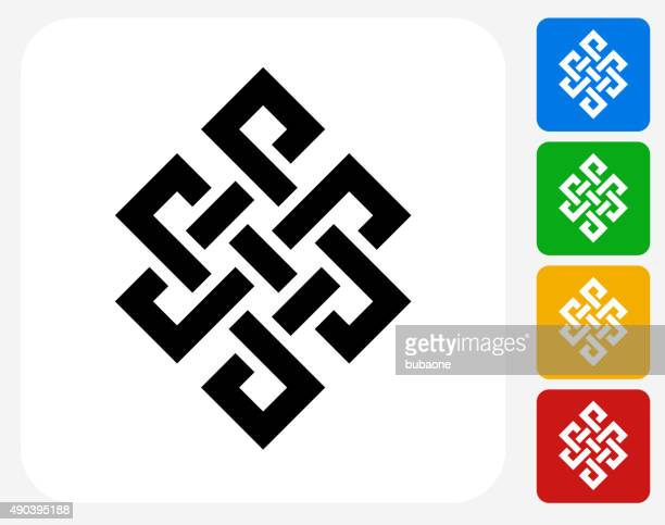 Buddhist Symbol Icon Flat Graphic Design