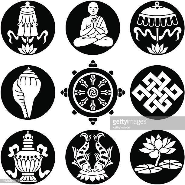 Buddhist symbols reversed