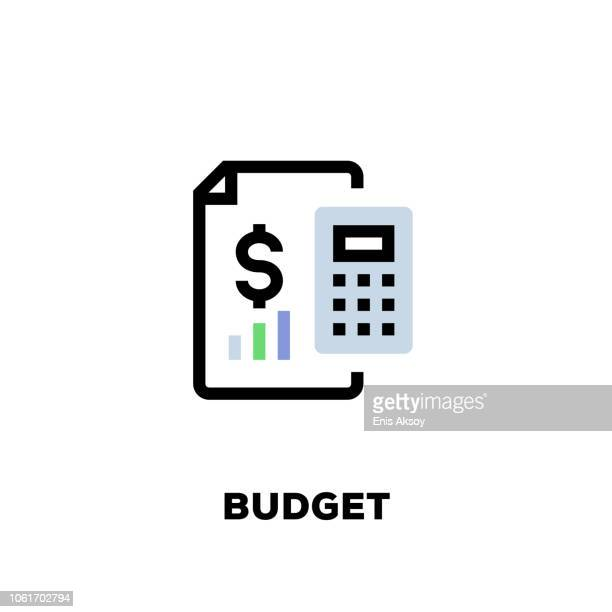 budget line icon - economy stock illustrations