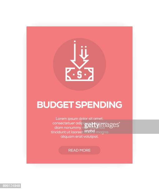 budget spending concept - low section stock illustrations