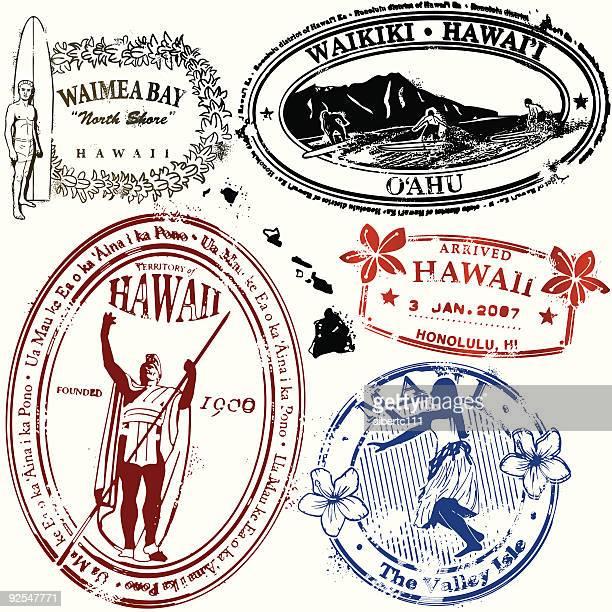 bue hawaii - honolulu stock illustrations