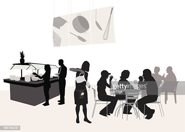 Buffet For All Vector Silhouette