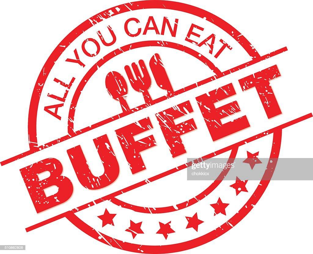 buffet : stock illustration