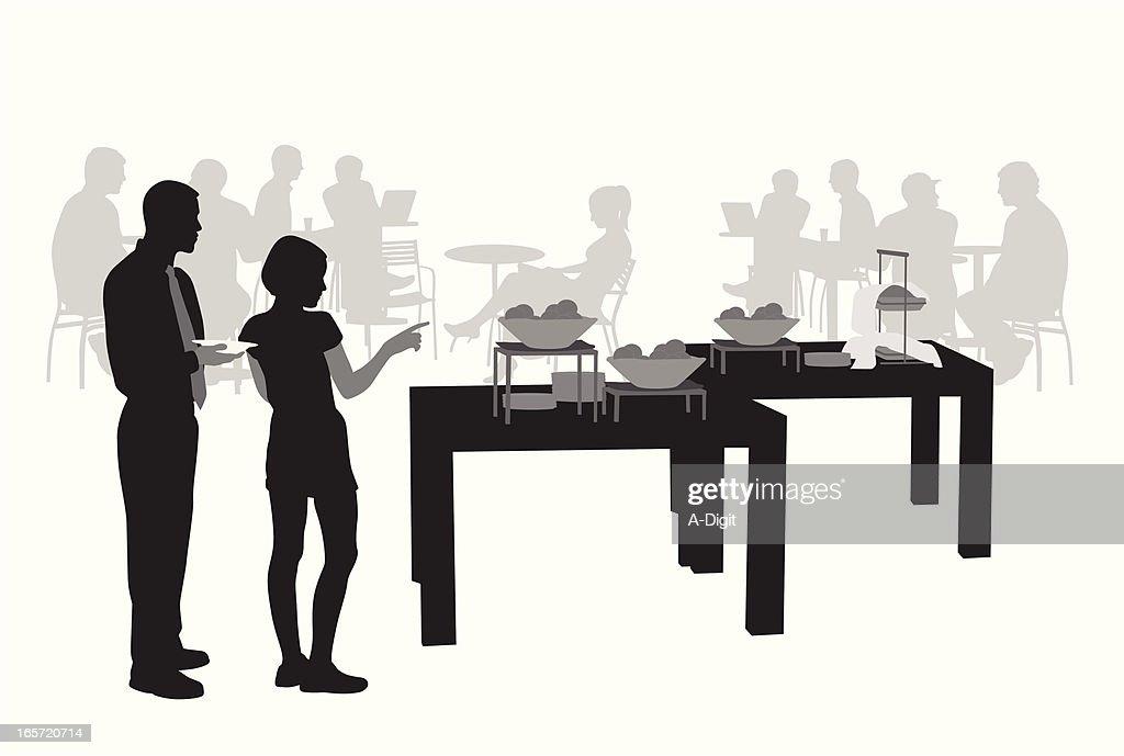 Buffet Vector Silhouette : stock illustration