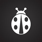 Bug icon on black background for graphic and web design, Modern simple vector sign. Internet concept. Trendy symbol for website design web button or mobile app.