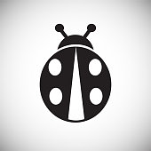 Bug icon on white background for graphic and web design, Modern simple vector sign. Internet concept. Trendy symbol for website design web button or mobile app.
