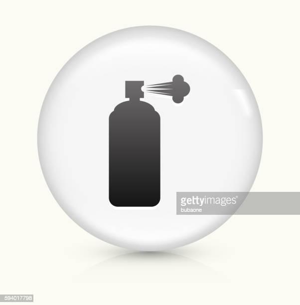 Bug Spray icon on white round vector button