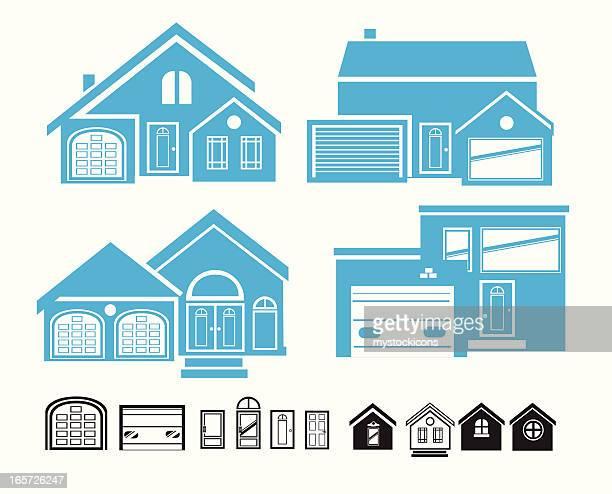 ilustraciones de stock y dibujos de constructor de tejados