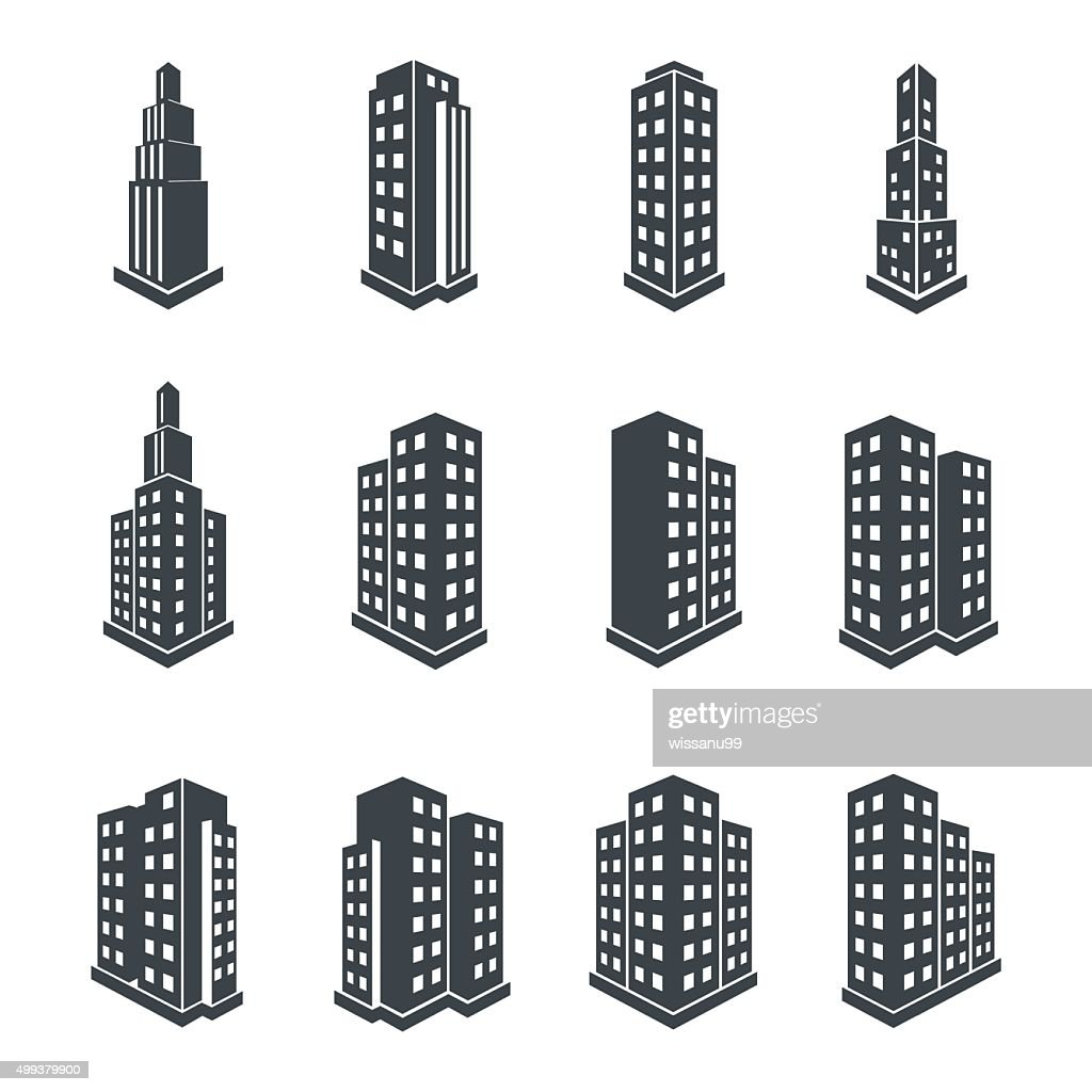 Building 3d Perspective Icons.