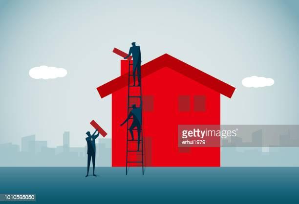 building - activity - foundation make up stock illustrations