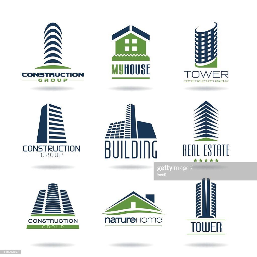 Building and construction icon set