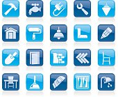 Building and home renovation icons