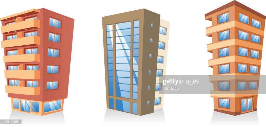 Building apartment condominium edifice structure house collection
